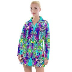 Colorful 60 Women s Long Sleeve Casual Dress