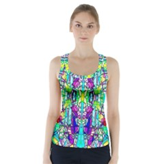 Colorful 60 Racer Back Sports Top
