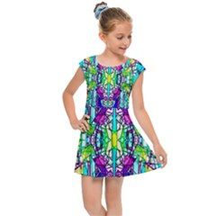 Colorful 60 Kids  Cap Sleeve Dress
