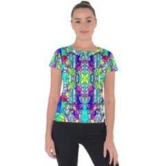 Colorful 60 Short Sleeve Sports Top