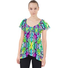 Colorful 60 Lace Front Dolly Top