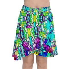 Colorful 60 Chiffon Wrap Front Skirt