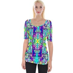 Colorful 60 Wide Neckline Tee