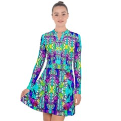Colorful 60 Long Sleeve Panel Dress
