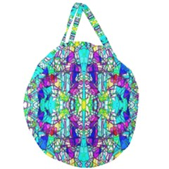 Colorful 60 Giant Round Zipper Tote