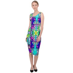 Colorful 60 Sleeveless Pencil Dress