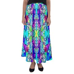 Colorful 60 Flared Maxi Skirt