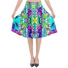 Colorful 60 Flared Midi Skirt
