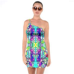 Colorful 60 One Soulder Bodycon Dress