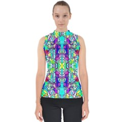 Colorful 60 Mock Neck Shell Top