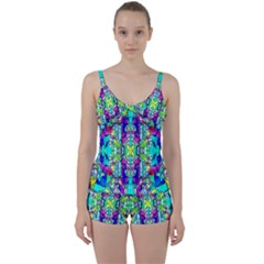 Colorful 60 Tie Front Two Piece Tankini