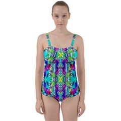 Colorful 60 Twist Front Tankini Set by ArtworkByPatrick