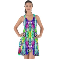 Colorful 60 Show Some Back Chiffon Dress