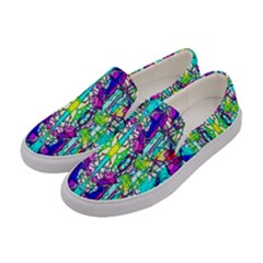Colorful 60 Women s Canvas Slip Ons