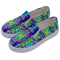 Colorful 60 Kids  Canvas Slip Ons