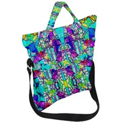 Colorful 60 Fold Over Handle Tote Bag