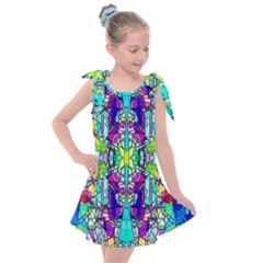 Colorful 60 Kids  Tie Up Tunic Dress