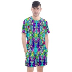 Colorful 60 Men s Mesh Tee and Shorts Set