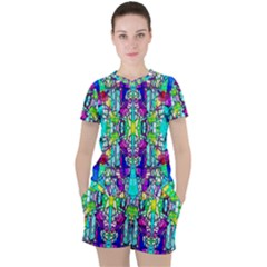 Colorful 60 Women s Tee and Shorts Set
