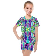 Colorful 60 Kids  Mesh Tee and Shorts Set