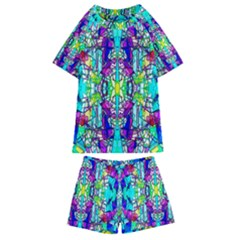 Colorful 60 Kids  Swim Tee and Shorts Set