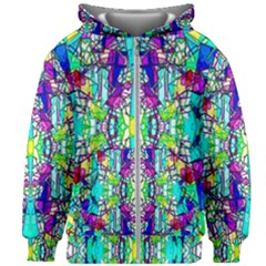 Colorful 60 Kids  Zipper Hoodie Without Drawstring