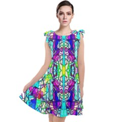 Colorful 60 Tie Up Tunic Dress