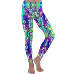 Colorful 60 Kids  Lightweight Velour Classic Yoga Leggings