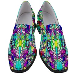 Colorful 60 Women s Chunky Heel Loafers