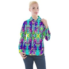 Colorful 60 Women s Long Sleeve Pocket Shirt