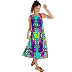 Colorful 60 Summer Maxi Dress