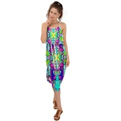 Colorful 60 Waist Tie Cover Up Chiffon Dress