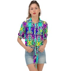 Colorful 60 Tie Front Shirt