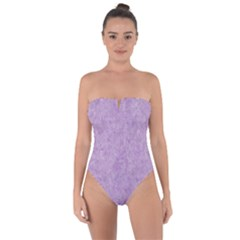 Lavender Elegance Tie Back One Piece Swimsuit