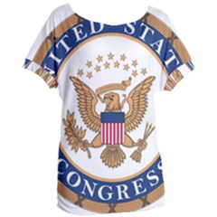 Seal Of United States Congress Women s Oversized Tee by abbeyz71