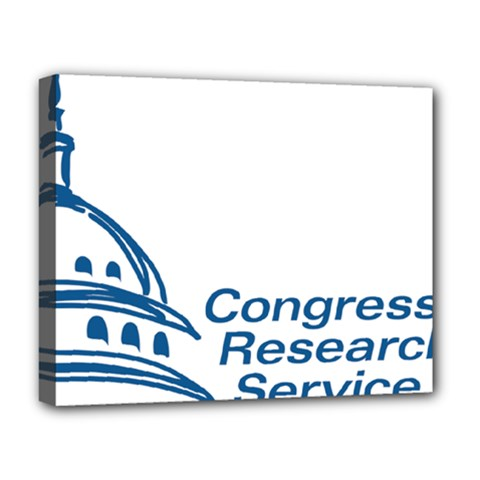 Logo Of Congressional Research Service Deluxe Canvas 20  X 16  (stretched) by abbeyz71