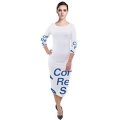Logo Of Congressional Research Service Quarter Sleeve Midi Velour Bodycon Dress by abbeyz71