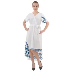 Logo Of Congressional Research Service Front Wrap High Low Dress