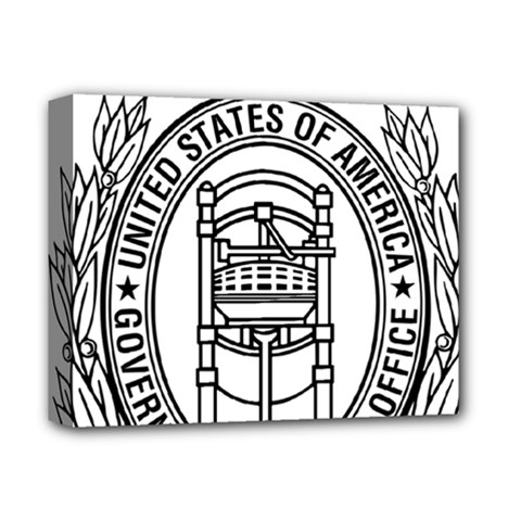 Official Seal Of United States Government Publishing Office Deluxe Canvas 14  X 11  (stretched) by abbeyz71