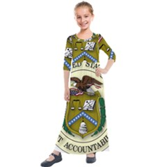 Seal Of United States Government Accountability Office Kids  Quarter Sleeve Maxi Dress by abbeyz71