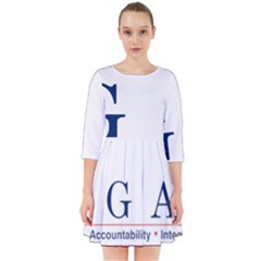 Logo Of United States Government Accountability Office Smock Dress