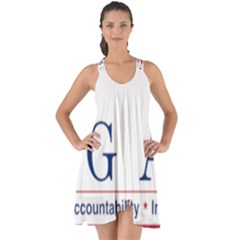 Logo Of United States Government Accountability Office Show Some Back Chiffon Dress by abbeyz71