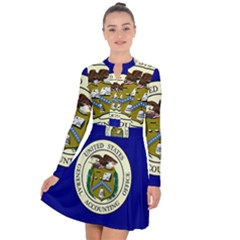 Flag Of United States General Accounting Office, 1921 2004 Long Sleeve Panel Dress