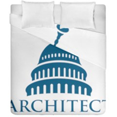 Logo Of United States Architect Of The Capitol Duvet Cover Double Side (california King Size) by abbeyz71
