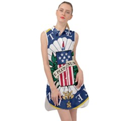 Seal Of The United States Senate Sleeveless Shirt Dress