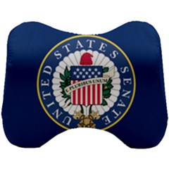 Flag Of The United States Senate Head Support Cushion by abbeyz71