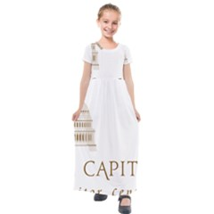 Logo Of U S  Capitol Visitor Center Kids  Short Sleeve Maxi Dress by abbeyz71