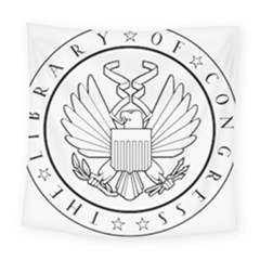 Seal Of Library Of Congress Square Tapestry (large) by abbeyz71
