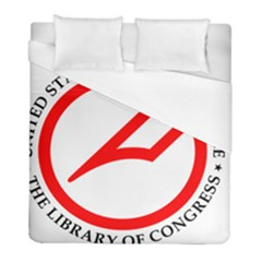 Logo & Seal Of United States Copyright Office, 1978 2003 Duvet Cover (full/ Double Size) by abbeyz71