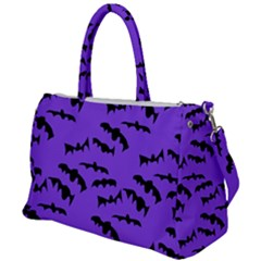 Bats Pattern Duffel Travel Bag by bloomingvinedesign
